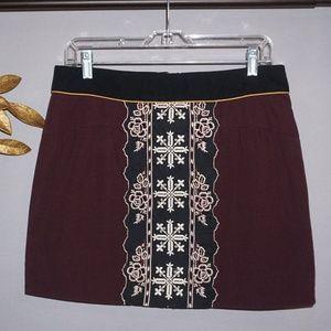 Anthro Floreat Eugenia Panel Mini Skirt Tapestry